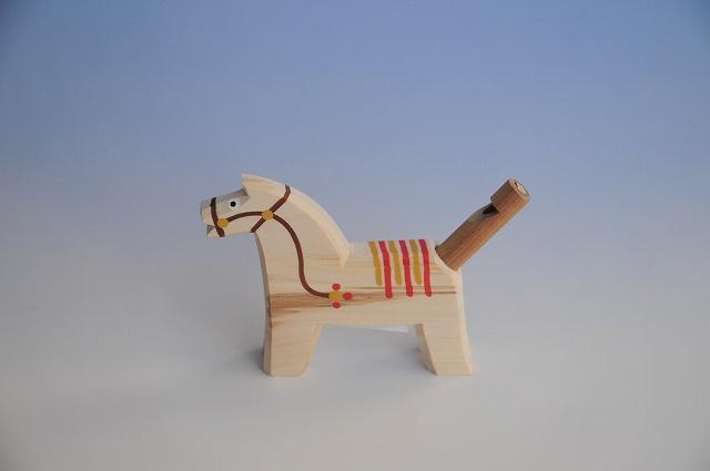 画像1: 馬の笛 茶 チェコ ウッドクラフト 手作り おもちゃ プレゼント (1)