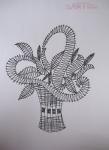 画像1: ボビンレース 型紙 花かご チェコ製 (1)