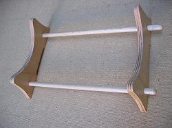 画像1: ボビンレース 枕台 コンパクト 枕を横に置いて使う (1)